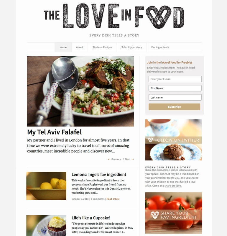 Love in food Miscbydesign